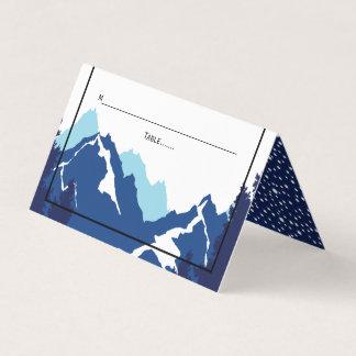 Blaue gefaltete Eskorte des Gebirgswinters Platzkarte