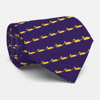 Blaue gelbe Enten-Muster-Krawatten-Krawatten Individuelle Krawatten