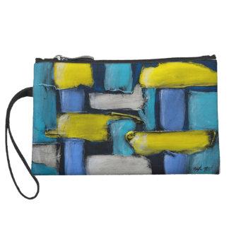 Blaue gelbe Gewohnheit gemalter Wristlet