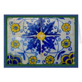 Blaue, gelbe und grüne Fliesen von Toledo, Spanien Karte