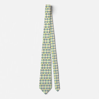 Blaue gemusterte geometrische Krawatte