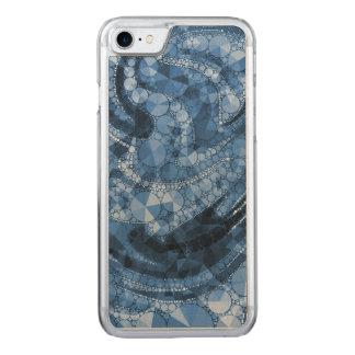Blaue geometrische abstrakte Dreiecke und Kreise Carved iPhone 8/7 Hülle