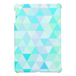 Blaue geometrische Dreiecke iPad Mini Hülle