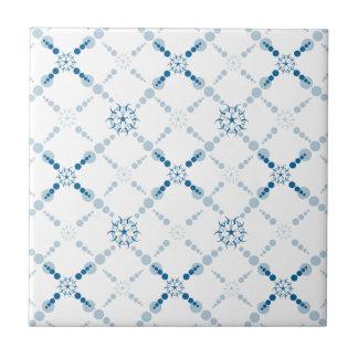 Blaue geometrische Ernte-Kreise Fliese