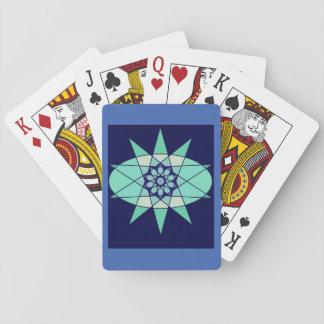 Blaue geometrische Stern-Entwurfs-Karten Spielkarten