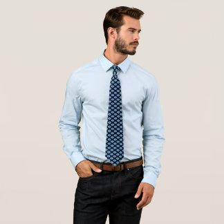 Blaue geometrische Stern-Entwurfs-Krawatte Krawatte