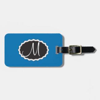 Blaue Gepäck-Taschen-Umbau-Schablone Gepäckanhänger