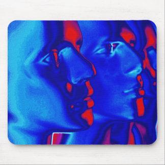 Blaue Gesichter Mauspad