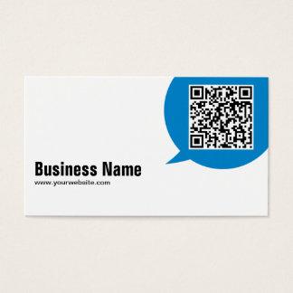 Blaue Gesprächs-Blasen-Journalist-Visitenkarte Visitenkarte