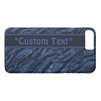 Blaue gestreifte Camouflage mit kundenspezifischem iPhone 7 Plus Hülle