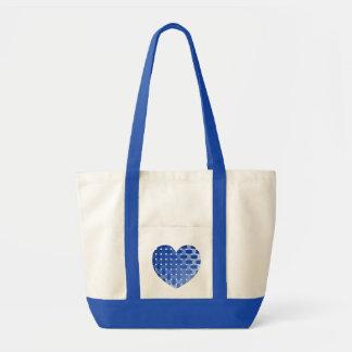 Blaue Gitter-Herz-Taschen-Tasche Tragetasche