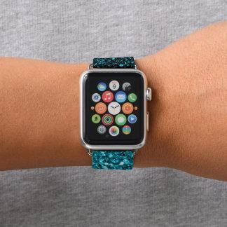 Blaue Glitter-Glitzern des schönen Aqua Apple Watch Armband