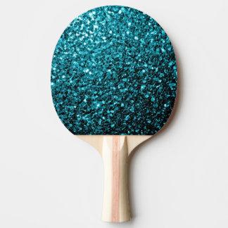 Blaue Glitter-Glitzern des schönen Aqua Tischtennis Schläger