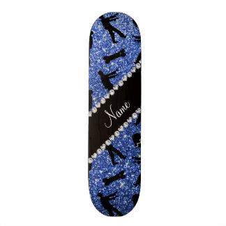 Blaue Glitterzombies des individuellen Namens Skate Board
