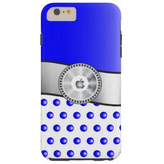 Blaue Glitzern Tough iPhone 6 Plus Hülle