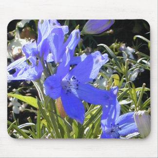 Blaue Glühen-Blume Mousepad