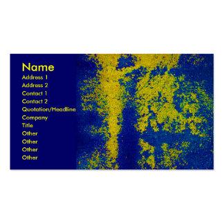 Blaue Golddesigner-Visitenkarte