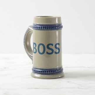 Blaue/graue Chef-Tasse Bierglas