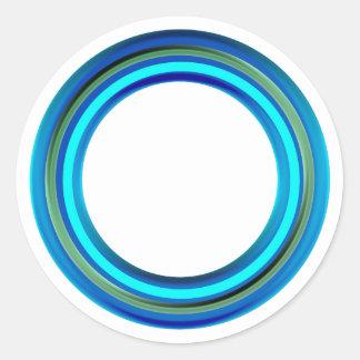 Blaue Grenzen fügen TEXT-GRUSS-NAMEN im Weiß hinzu Runder Aufkleber