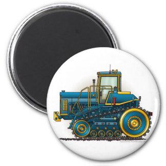 Blaue große Bulldozer-Traktor-Magneten Runder Magnet 5,1 Cm