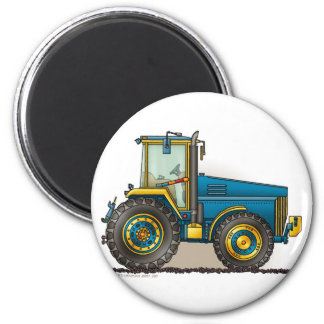 Blaue große Traktor-Magneten Runder Magnet 5,7 Cm