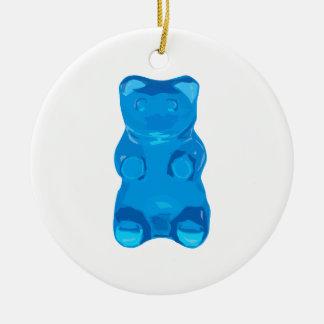 Blaue Gummybear Illustration Keramik Ornament