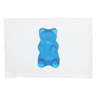 Blaue Gummybear Illustration Kissen Bezug