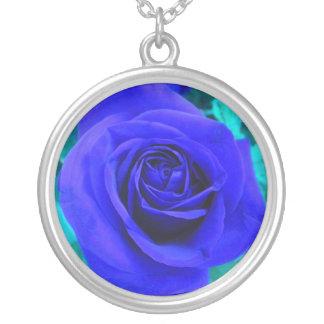 Blaue Halskette Rose2