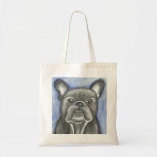 Blaue Haltungs-Tasche der französischen Bulldogge Tragetasche