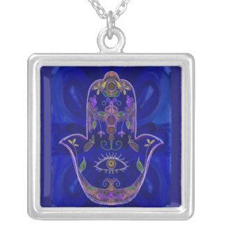 Blaue Hamsa Halskette