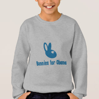 Blaue Häschen für Obama - Obama-Gang Sweatshirt