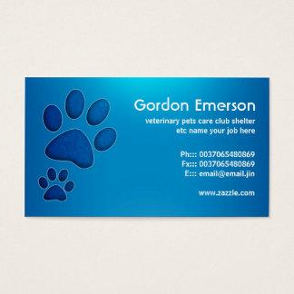 blaue Haustierpflegetierarzt-Visitenkarten Visitenkarten
