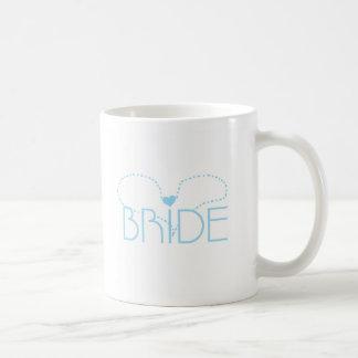 Blaue Herz-Braut Teetassen
