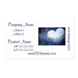 Blaue Herz-Entwurfs-Visitenkarten