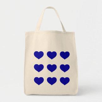Blaue Herzen Einkaufstasche