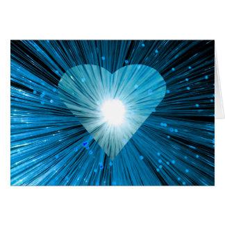 Blaue Herzgrußkarte Karte