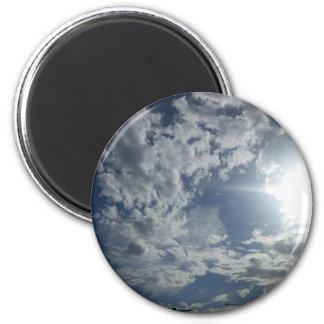 Blaue Himmel-Magnet Runder Magnet 5,1 Cm