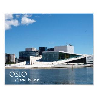 Blaue Himmel über dem Oslo-Opernhaus, Norwegen Fotodruck
