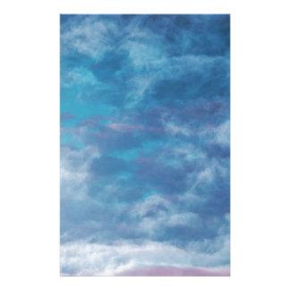Blaue Himmel und Wolken Briefpapier