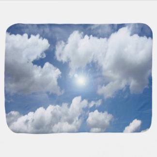 Blaue Himmels-Wolken + Ihre Ideen Babydecke