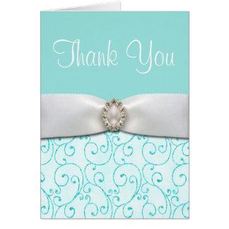 Blaue Hochzeit danken Ihnen Karten