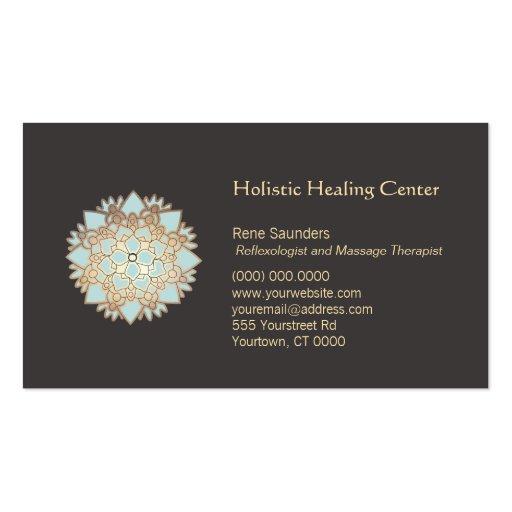Blaue holistische heilende Kunst-Visitenkarte