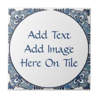 Blaue Holländer schauen, redigieren Text, addieren Fliese