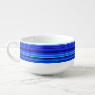 Blaue horizontale Streifen Große Suppentasse