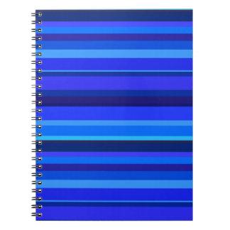 Blaue horizontale Streifen Notizblock