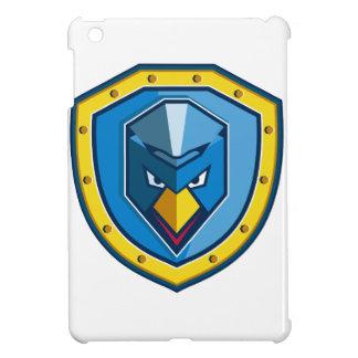 Blaue Huhn-Mohikaner-Schild-Ikone iPad Mini Hülle
