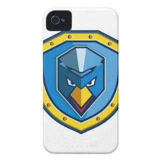 Blaue Huhn-Mohikaner-Schild-Ikone iPhone 4 Case-Mate Hülle