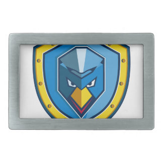 Blaue Huhn-Mohikaner-Schild-Ikone Rechteckige Gürtelschnalle