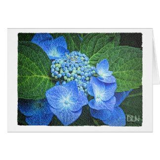 Blaue Hydrangea-Blume/Blumen/Watercolor-Blick Karte