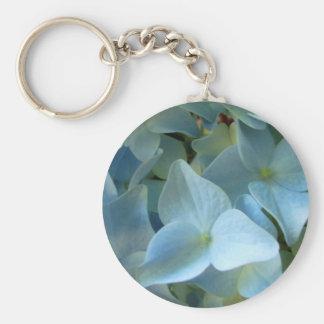 Blaue Hydrangea-Blume II Keychain Standard Runder Schlüsselanhänger